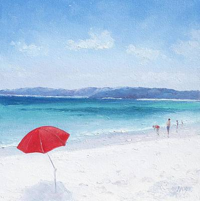 Beach Paddling Poster