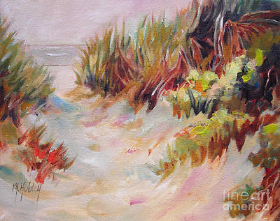 Beach Path Through The Dunes Poster by Mary Hubley