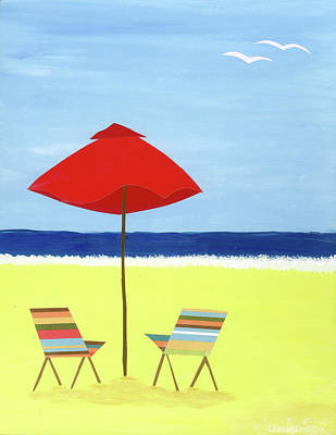 Beach Picture Poster by Jennifer Peck