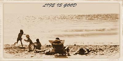 Beach Postcard Poster