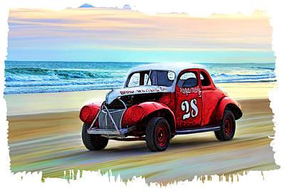 Beach Race Car 28 Poster