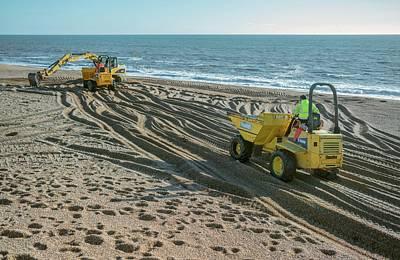 Beach Repair Poster by Robert Brook
