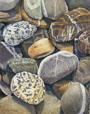Beach Rocks 4 Poster by Nick Payne