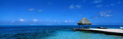 Beach Scene Bora Bora Island Polynesia Poster