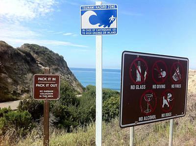 Beach Signs San Clemente Poster