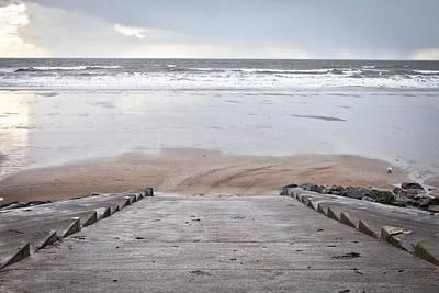 Beach Steps Poster by Tom Gowanlock