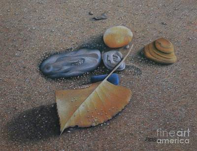 Poster featuring the painting Beach Still Life IIi by Pamela Clements