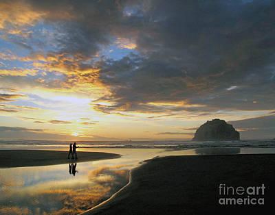 Poster featuring the photograph Bandon Beach Stroll by Suzy Piatt