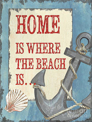 Beach Time 2 Poster by Debbie DeWitt