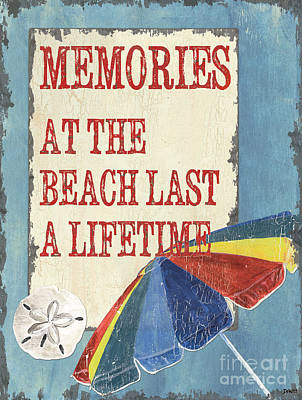 Beach Time 3 Poster by Debbie DeWitt