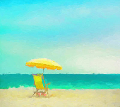 Poster featuring the painting Got Beach? by Douglas MooreZart