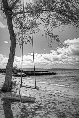 Beach Tree Swing Poster