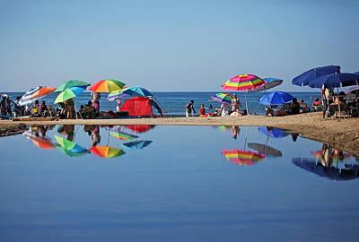 Beach Umbrellas Poster by Camilla Fuchs