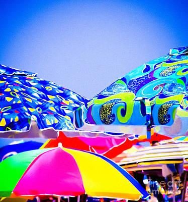 Beach Umbrellas Poster by Colleen Kammerer