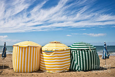 Beach Umbrellas Poster by Delphimages Photo Creations