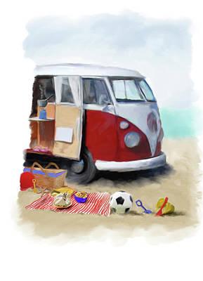 Beach Van Poster