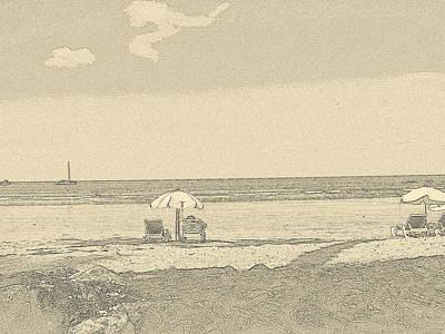 Beach View Poster by Carlton Britt