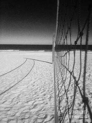Beach Volleyball Net Poster