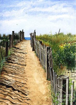 Beach Walk Poster by Barbara Jewell