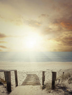 Beach Walkway Poster