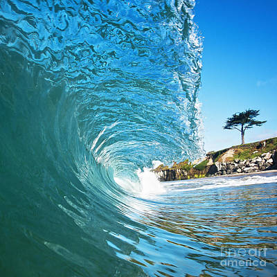 Poster featuring the photograph Beach Wave by Paul Topp