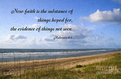 Beach With Scripture Poster