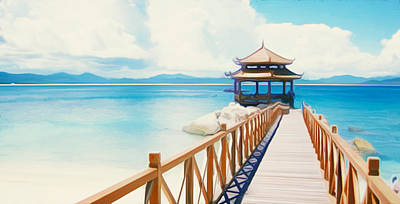 Beaches Of Wuzhizhou Island Poster
