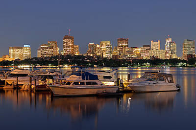Beacon Hill And Charles River Yacht Club Poster by Juergen Roth