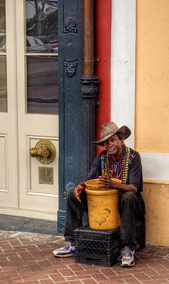 Beads And Bucket In New Orleans Poster
