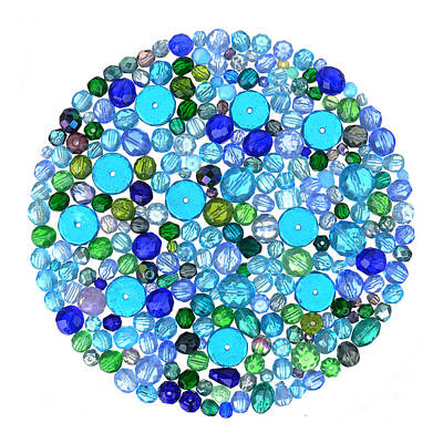 Beads In Blues Poster