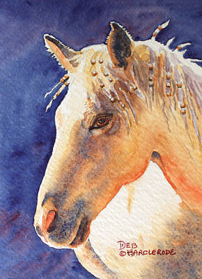 Pearls In Her Hair - Horse Poster by Deb  Harclerode
