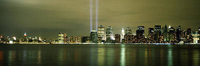 Beams Of Light, New York, New York Poster by Panoramic Images