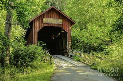 Bean Blossom Covered Bridge Poster by Mary Carol Story