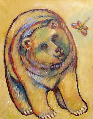 Bear And Dragonfly Poster by Carol Suzanne Niebuhr