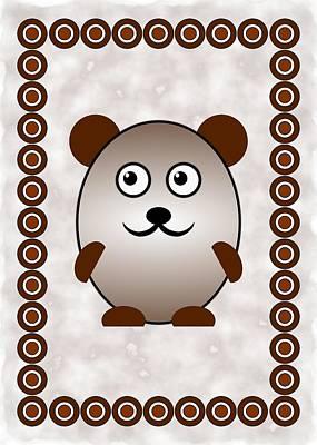 Bear - Animals - Art For Kids Poster