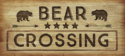 Bear Crossing Poster by Jennifer Pugh