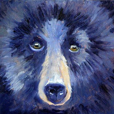 Bear Face Poster by Nancy Merkle
