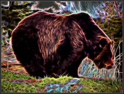 Colorful Grizzly Poster