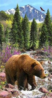 Poster featuring the painting Bear Necessities by Doug Kreuger