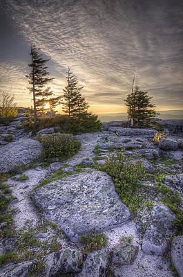 Bear Rocks Sunrise Poster by Michael Donahue