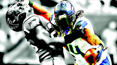 Beast Mode Stiff Arm Poster by Brian Reaves