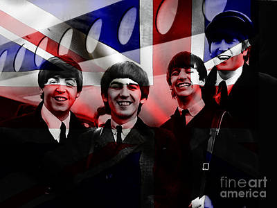 Beatles Painting Poster by Marvin Blaine