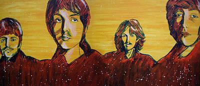 Beatles Widescreen Poster by Linda Kassabian