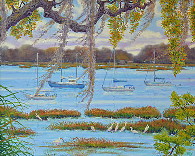 Poster featuring the painting Beaufort Anchorage by Dwain Ray