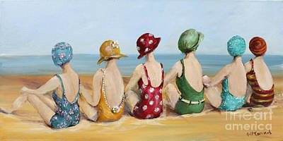 Beauties At The Beach Poster