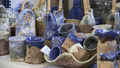 Beautiful Blue Pottery Poster by Teresa Mucha