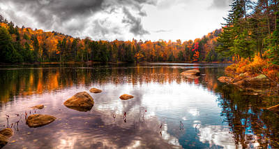 Beautiful Cary Lake In Autumn Poster