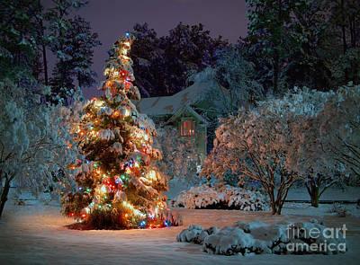 Beautiful Christmas Tree Lights Poster