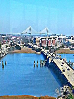 Charleston S C City View Poster by Joetta Beauford