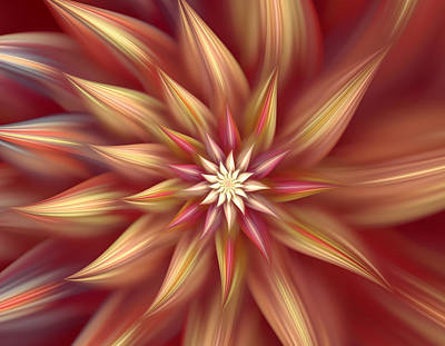 Beautiful Dahlia Abstract Poster